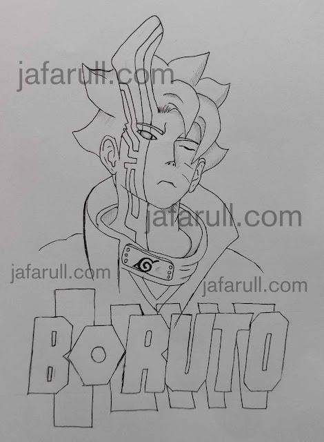 Menggambar dan mewarnai boruto mode Otsutsuki