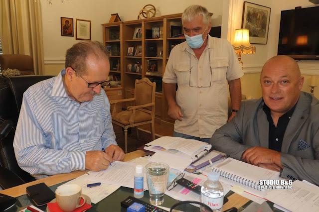 Υπεγράφη η σύμβαση για την αποκατάσταση του Κλειστού Γυμναστηρίου Αγίας Τριάδας