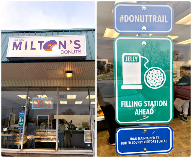 One sign of a really good local donut shop is how busy it is, and Milton's Donuts on the Butler County Donut Trail was rocking the entire time that we were there.