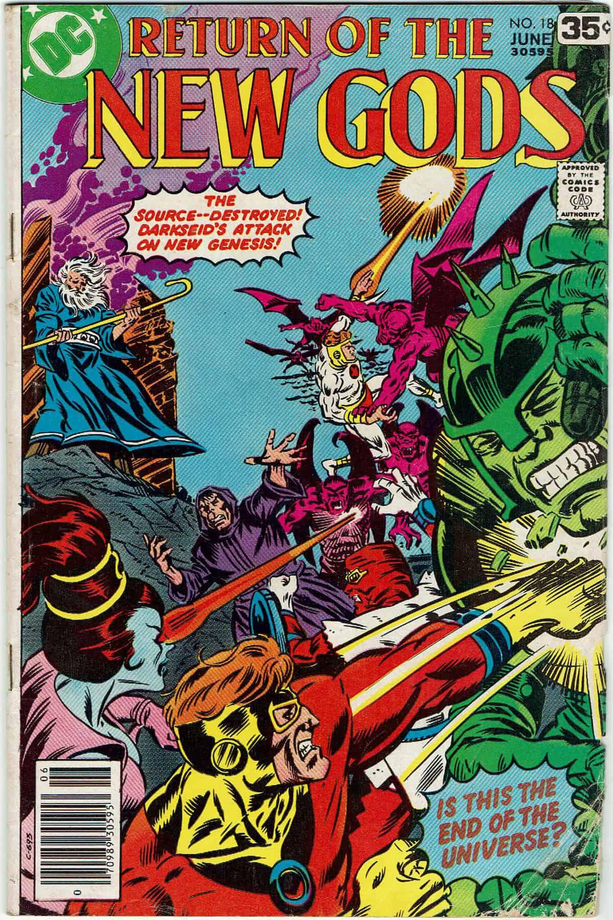 Return of the New Gods #18, portada de Al Milgrom