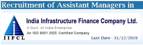 IIFCL Assistant Manager Recruitment 2019