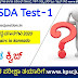 FDA AND SDA KANNADA 2020  MOCK TEST-1