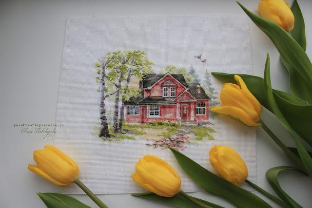 """Майский домик от """"Алисы"""" Вышивка крестом Весна Блог Вся палитра впечатлений"""