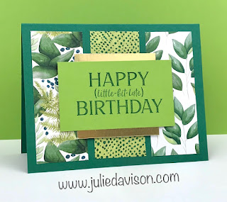 Stampin' Up! Happiest of Birthday ~ Belated Birthday Card ~ www.juliedavison.com #stampinup #birthday