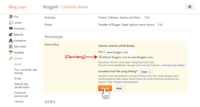 Memasang Domain TLD di Blogspot