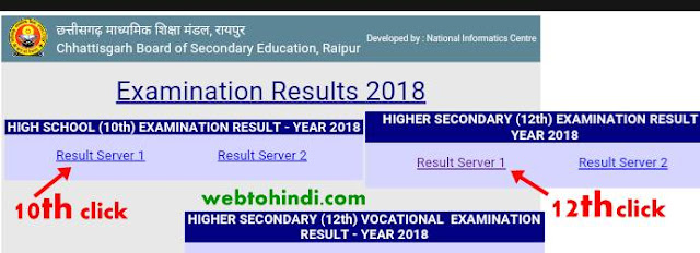 chhattisgarh board result 2018 official site