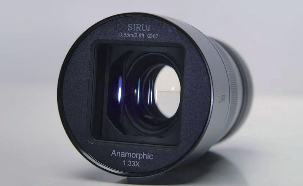 Объектив Sirui 35mm f/1.8 1.33x Anamorphic, вид спереди