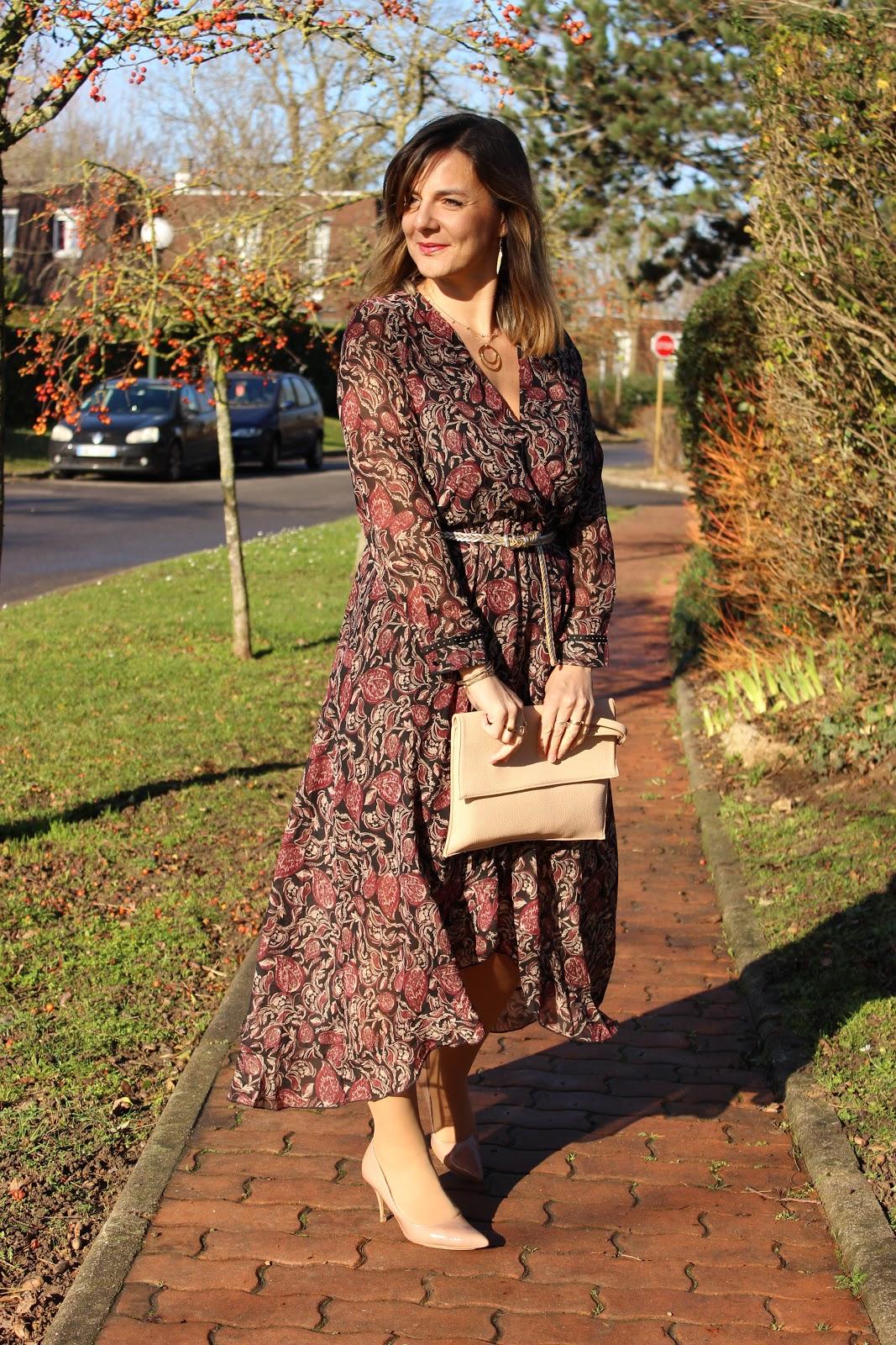 look du jour, robe rose mon amour, les petites bulles de ma vie