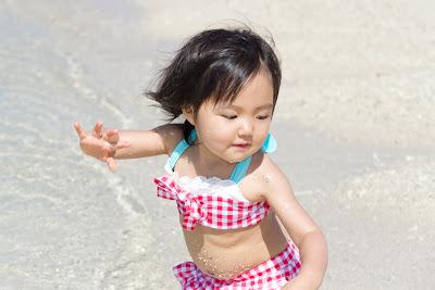 沖縄ビーチ家族写真