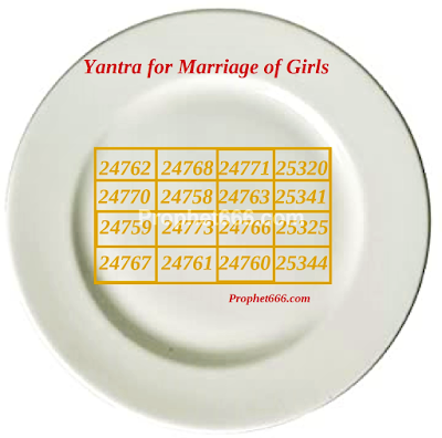 Yantra for removing delays in the Marriage of Girls