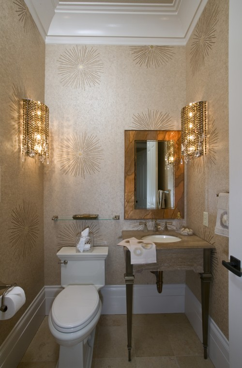 Prairie perch powder rooms that pack a punch - Small powder room decorating ideas ...