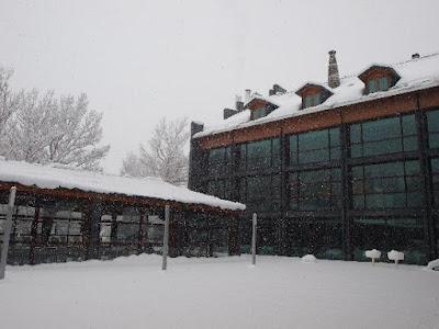 Foto de nieve sobre las casa