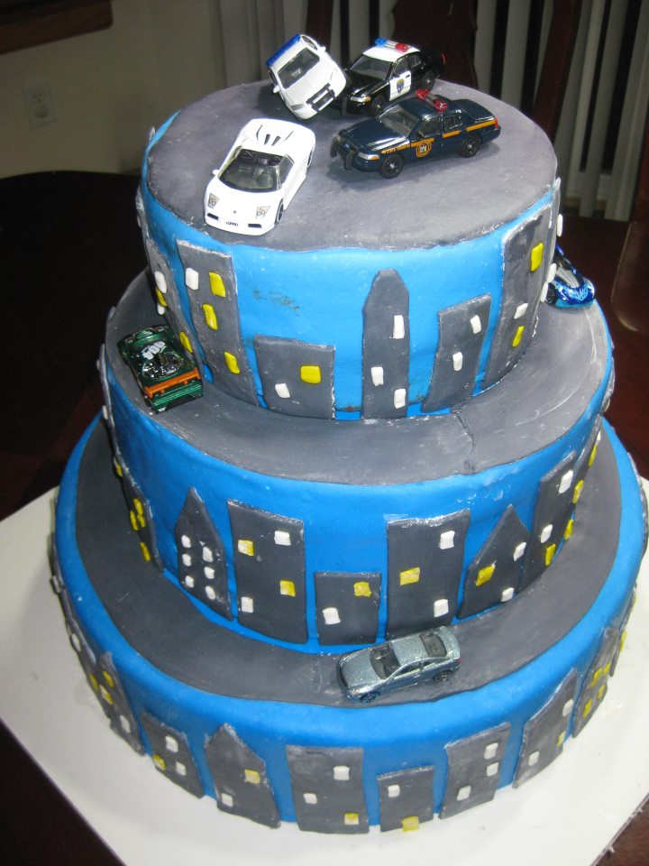 Darcy Cakes Police Chase Cake