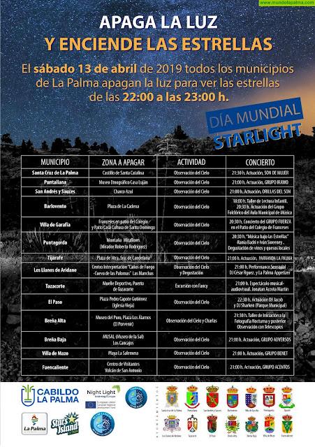 Programa Apaga la luz y enciende las estrellas 2019