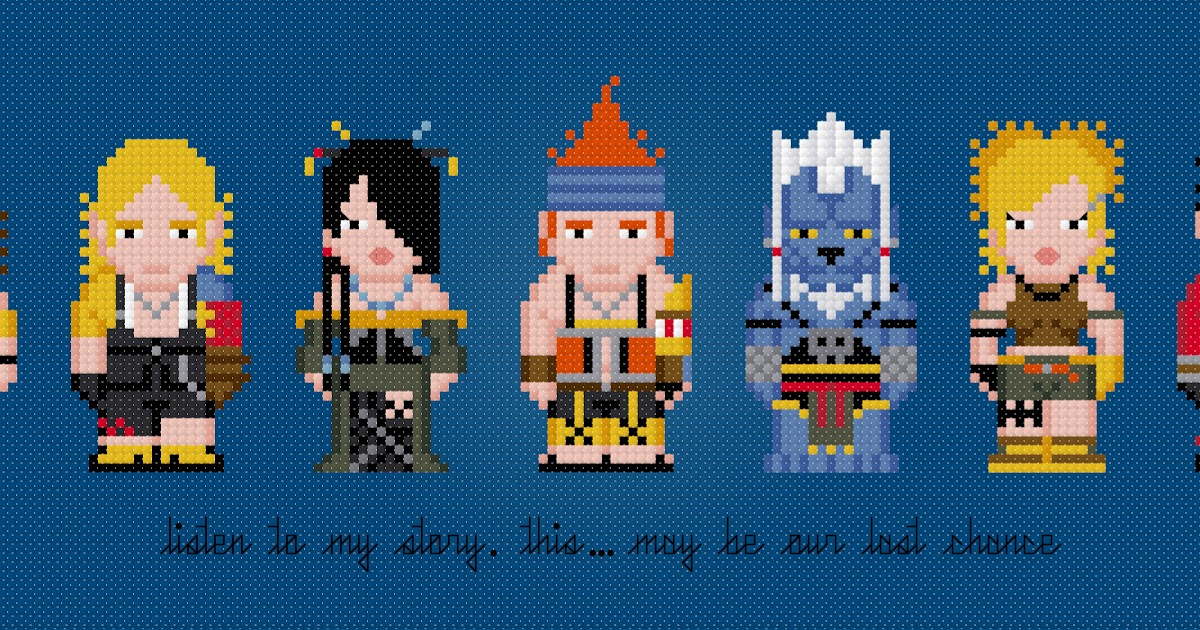 Cross-Stitch Patterns From Pixelpower Final Fantasy X -3450