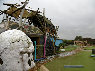A view of Mr Mulligan's Pirate Adventure Golf course in Milton Keynes