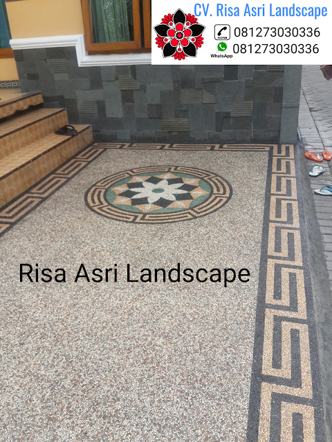jasa pembuatan batu sikat batu alam, karpot, carport lantai garasi motif batu TUKANG TAMAN SAMPANG - JASA PEMBUATAN PERTAMANAN LANDSCAPE