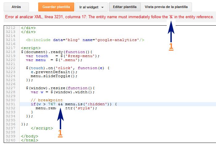 Cómo solucionar errores de análisis en el XML de la plantilla de ...