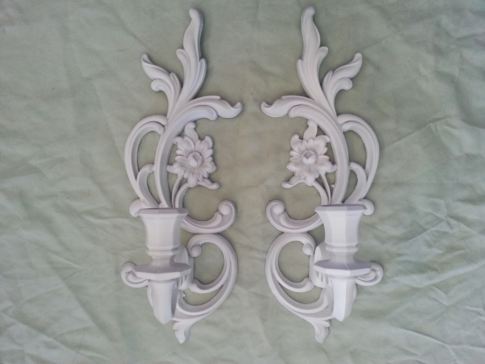 The Shabby Green Warehouse: Shabby Chic Candle Sconces