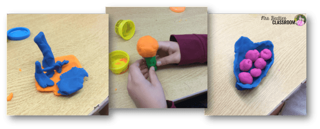 Photo of Play-Doh creations.