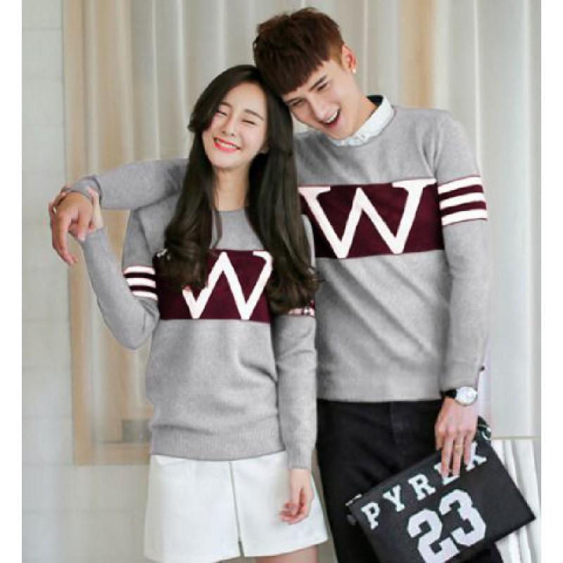 Jual Online Sweater Wonder Neo Misty Maroon Couple Murah Jakarta Bahan Babytery Terbaru