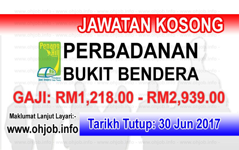 Jawatan Kerja Kosong Perbadanan Bukit Bendera Pulau Pinang logo www.ohjob.info jun 2017