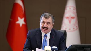 وزير الصحة التركي يعلن عن الإصابات والوفيات الجديدة بفايروس كورونا