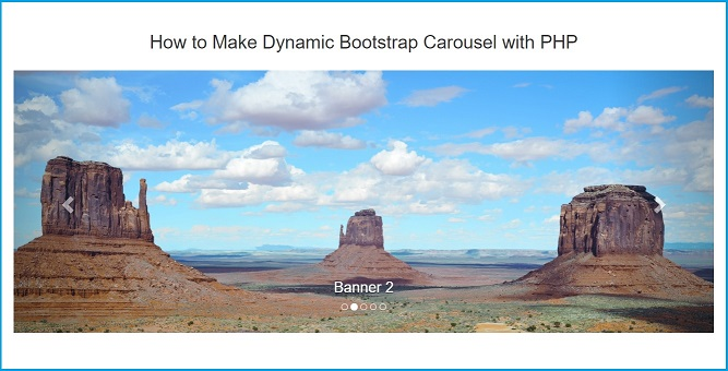 Dynamic Product Slider using Bootstrap Carousel with PHP