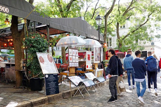 Paris : Place du Tertre à Montmartre, nostalgie cupide et tourisme de masse - XVIIIème
