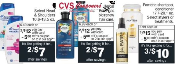 Pantene & Herbal Shampoo CVS Deal $0.29 12-15-12-21