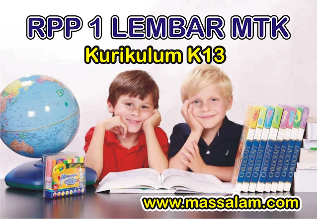 RPP SD/MI 1 Lembar 2020 Matematika Kelas 6