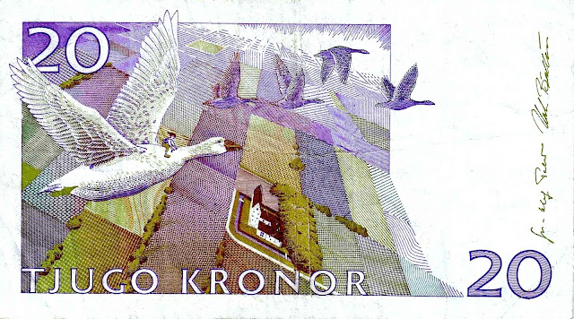 Sweden money kronor 1994 geese