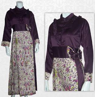 Model Baju Batik Kombinasi Brokat setelan