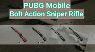 Inilah Bolt Action Sniper Rifle PUBG Mobile Auto Headshot