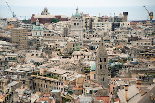 Photo of rooftops in Genoa