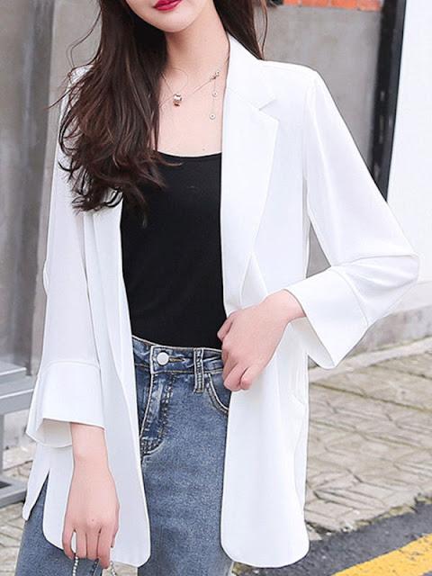 Blazer branco     feminino oversized