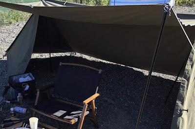 ソロベースをキャンプ場で使用してみた様子:2