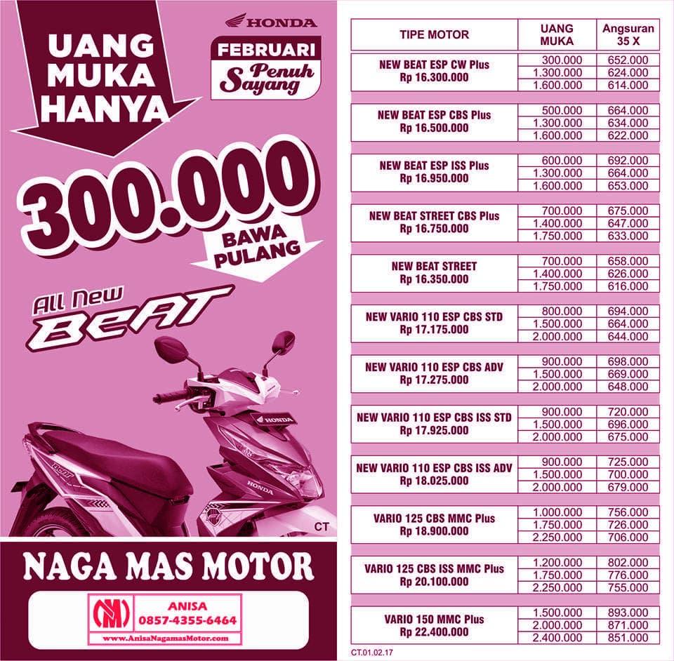 Promo Februari Penuh Sayang 2017 DEALER NAGAMAS MOTOR KLATEN