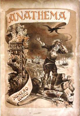 Portada de la revista Anathema,Coimbra, 1890