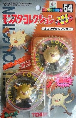 Primeape Pokemon figure Tomy Monster Collection series