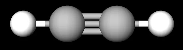 C2H2 Ball and Stick Model