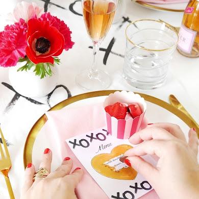DIY | Menus à Gratter pour la Saint Valentin & Freebies Printables