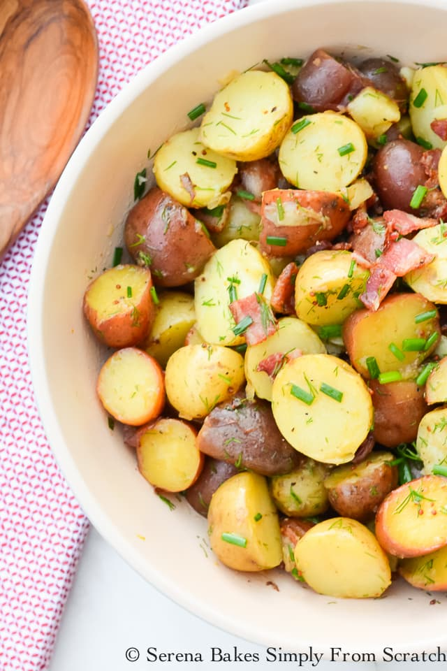 Tangy Warm Potato Salad with Bacon