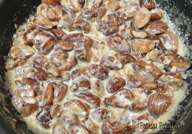 recette de noix de Saint Jacques et châtaigne, noix de Saint Jacques et purée de châtaigne, noix de Saint Jacques, cuisiner des noix de Saint Jacques, préparer des noix de Saint Jacques, snacker des noix de Saint Jacques, purée de châtaigne, plat festif, plat principal, patissi-patatta