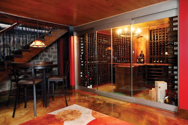 baement wet bar plan ideas with wine cabinets