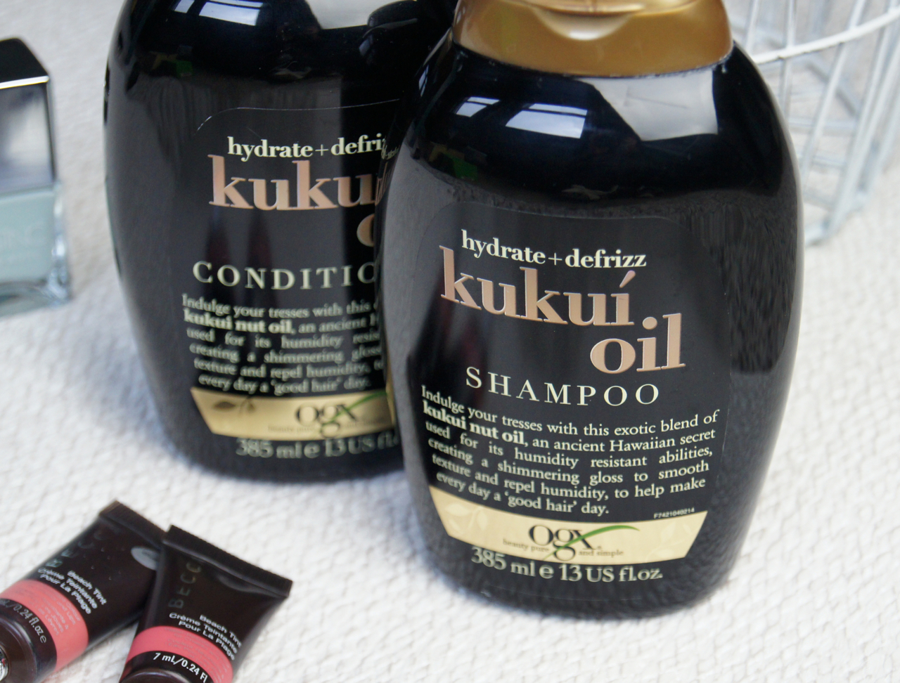 OGX haircare kukui oil shampoo conditioner review