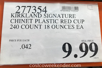 Deal for 240 Kirkland Chinet Plastic Big Red Cups at Costco