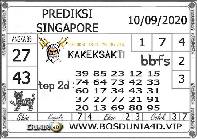 Prediksi Togel SINGAPORE DUNIA4D 10 SEPTEMBER 2020