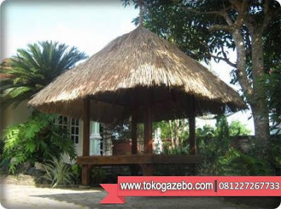 Gazebo Polos Glugu Atap Alang-alang