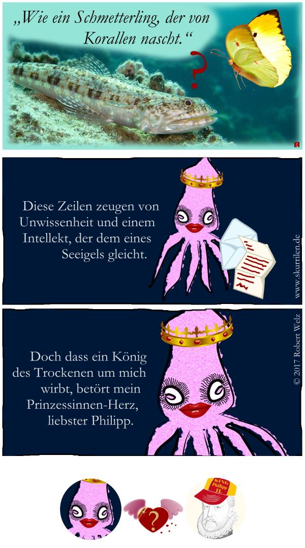 Heirats-Diplomatie, Dynastien, Adelshäuser, Habsburg, Geschichte, Prinzessin, Riesenkalmare, Tiefsee, Humor, Satire, Comic